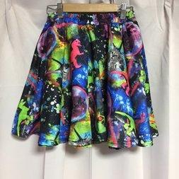 ACDC RAG Space Cat & Dinosaur Flare Skirt