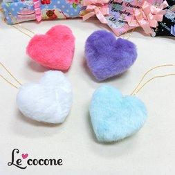 Le cocone Big Heart Fake Fur Necklace