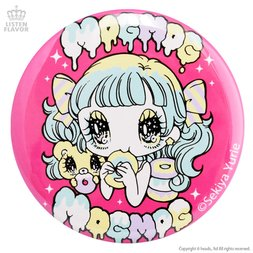 LISTEN FLAVOR x Yurie Sekiya MogMog Girl Collab Pin Badge