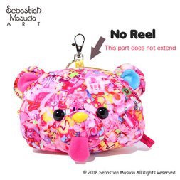 6%DOKIDOKI Sebastian Masuda Time After Time Capsule Bear Mascot Pass Case