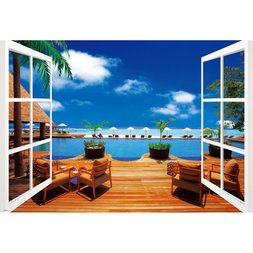 Tropical Ocean View Jigsaw Puzzle