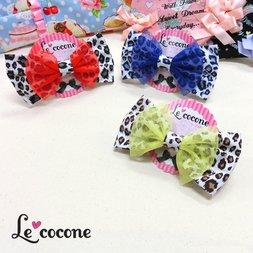 Le cocone Leopard Print Color Ribbon Hair Clip