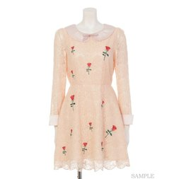 Swankiss Rose Lace Dress