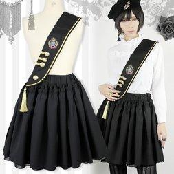 Black MiQuri 2-Way Sash Military Skirt