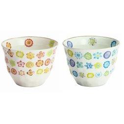 Hana Botan Mino Ware Sencha Teacups