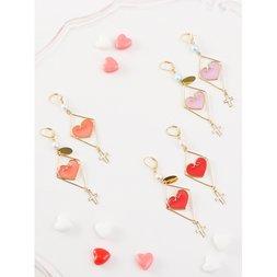 Honey Salon Love Cross Earrings