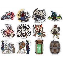 Capcom x B-Side Label Monster Hunter XX Stickers