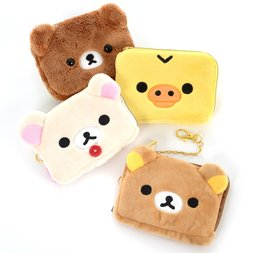 Rilakkuma Fuwaraku Plush Pass Case Collection