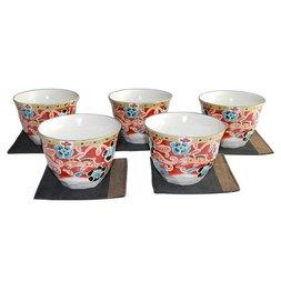 Mahoroba Mino Ware Teacup & Coaster Set