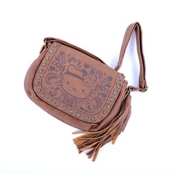 b49105f1811 Hello Kitty Embossed Boho Crossbody Bag w  Tassel