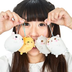 Mochikko Neko Nyanzu Cat Plush Collection (Mini Strap)