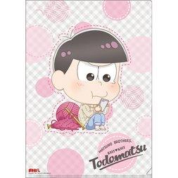 Osomatsu-san Knitting Wool Todomatsu Clear File