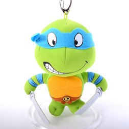Teenage Mutant Ninja Turtles 5.5 Leonardo Keychain Plush""