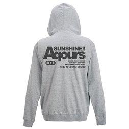 Love Live! Sunshine!! Aqours Mixed Gray Light Zip Hoodie