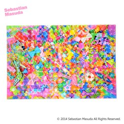 Sebastian.M Colorful Rebellion Hologram Postcard