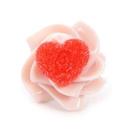 Q-pot. Parlor Love Heart Whipped Cream Earring