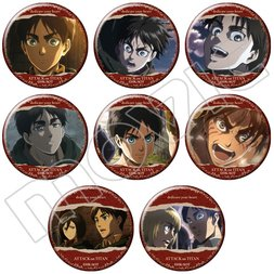 Attack on Titan Eren Character Badge Box Set