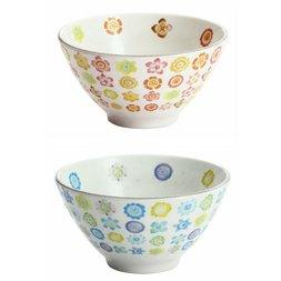 Hana Botan Mino Ware Rice Bowls