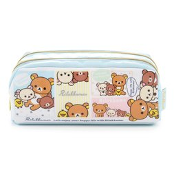 Rilakkuma Happy Life with Rilakkuma Double Zipper Pen Pouch