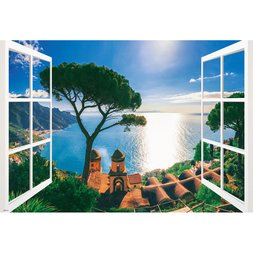 Mediterranean Sea Sunset View Jigsaw Puzzle