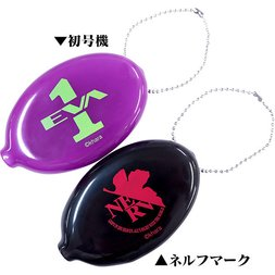 EVA STORE TOKYO-01 Original NERV Symbol & Unit-01 Coin Case Set