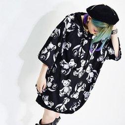 ACDC RAG Teddy Short Sleeve Hoodie Dress
