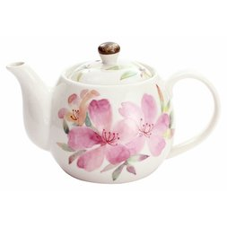 Hana Kaori Mino Ware Azalea Teapot