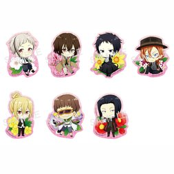 Bungo Stray Dogs Haru no Hana Clear Clip Badge Box Set