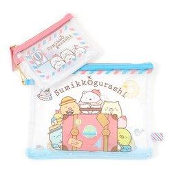 Sumikko Gurashi Oheya no Sumi de Tabikibun Clear Pouch Set