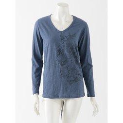 Ozz Oneste Marineko Pattern V-Neck T-Shirt