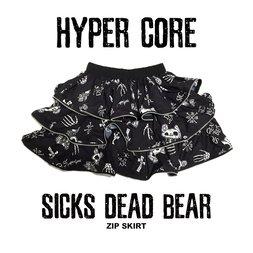 HYPER CORE Sicks Dead Bear Zip Skirt