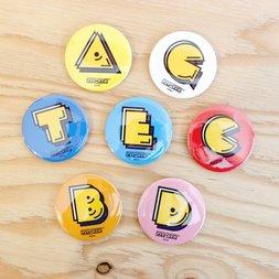 Pac-Man Alphabet Badge Collection Vol. 1