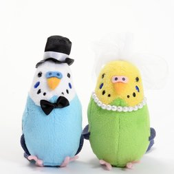 Kotori Collection Budgerigar Wedding Clip Set