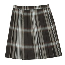 Teens Ever Black x White High School Uniform Skirt