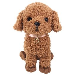 PUPS! Medium Brown Toy Poodle Plush