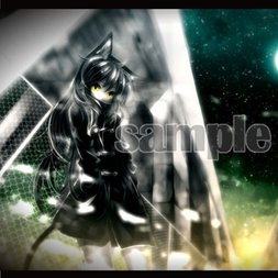Black Cat and Moon B2 Tapestry | KEI