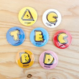 Pac-Man Alphabet Badge Collection Vol. 2