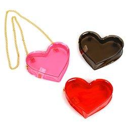 FLAPPER Heart Vinyl Shoulder Bag