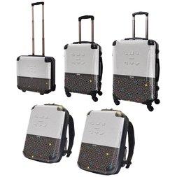 Tetris Art Suitcase & Rucksack Collection: Two-tone (White)