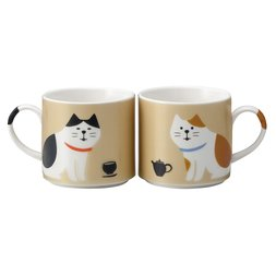 Concombre Cat Mug Pair Set