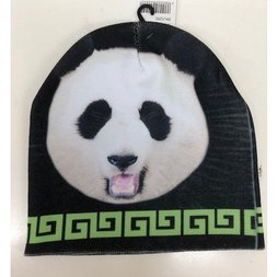 ACDC RAG Black & Green Panda Knit Cap