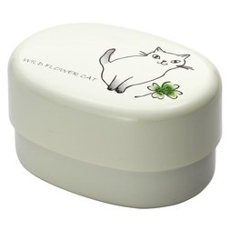 Wildflower Cat Lacquerware Lunch Box