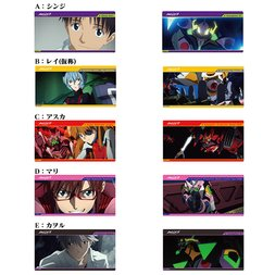 Characters of Evangelion: 3.0 Clear Postcard Set