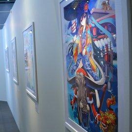"""Eshi 100 Exhibit "" Showcases 100 Artists' Beautiful Interpretations of Japan's Seasons 4"