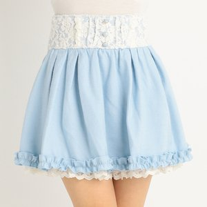 LIZ LISA Soft Contrast Lace Sukapan Skirt