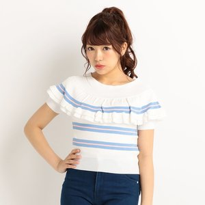 LIZ LISA Multi-Stripe Top