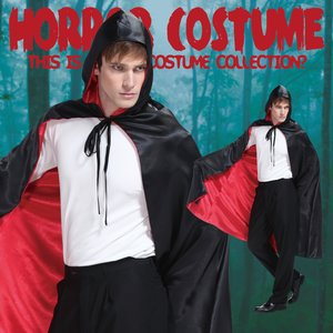 Otaku Apparel & Cosplay / Non-Character Cosplay / Black & Red Ghost Cape (Mens)