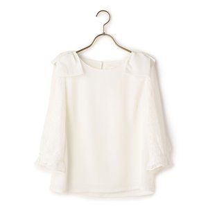 LIZ LISA Shoulder Ribbon Blouse