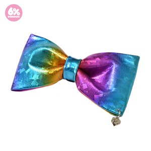 6%DOKIDOKI Rainbow Flakes Big Ribbon Clip & Brooch