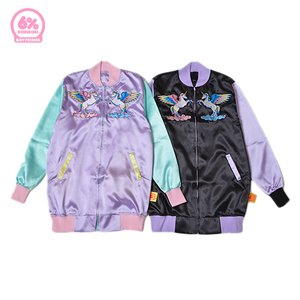 6%DOKIDOKI Long Satin Guardian Unicorn Jacket